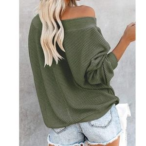 S. the Widow Sweaters - TABITHA Oversized V Neck Pullover Sweater